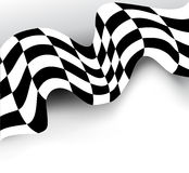 Race background checkered flag vector design. Element Royalty Free Stock Photos