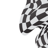 Race background checkered flag wave design Royalty Free Stock Photos
