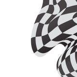 Race background checkered flag wave design. Race background checkered flag wave Royalty Free Stock Photos