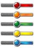 Race badges Royalty Free Stock Photo