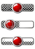 Race badges with round gem Stock Images