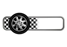Race badges with tyre royalty free illustration