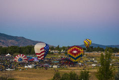 Race Is On. The Balloon Races begin in Reno, NV Royalty Free Stock Photo