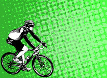 Race bicyclist on the abstract background Royalty Free Stock Image