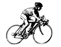 Race bicyclist. Vector illustration of race bicyclist Royalty Free Stock Photos