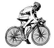 Race bicyclist 2 Royalty Free Stock Images
