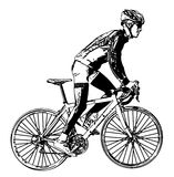 Race bicyclist 3 Stock Photography