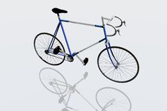 Race bike. 3d render of bike Stock Image