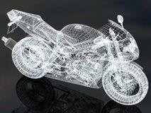 Race bike background. Race concept. 3D render Stock Image