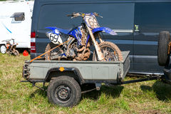 Race bike after the competition in motocross Royalty Free Stock Photos