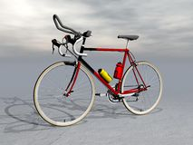 Race bike - 3D render Stock Photography