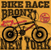 Race Bikers Garage Repair Service Emblems and Motorcycling Clubs Tournament Royalty Free Stock Images