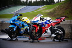 Race bikes Stock Photos
