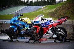 Race bikes Stock Photos