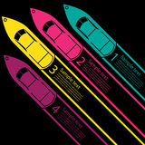 Race Boat infographics Stock Image