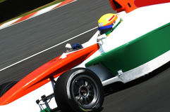 Race car. A forceful formula race car stock image