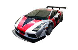 Race car. A view from a beautiful Race Car - Lamborghini Gallardo isolated over a white background Stock Photos