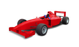 Race car. Over a white background Stock Image