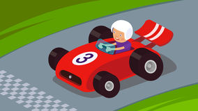 Race Car. Guy driving a race car to success Royalty Free Stock Photo