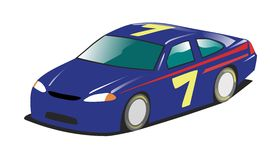 Race Car. Illustartion of a US style racing / stock car Royalty Free Stock Photo