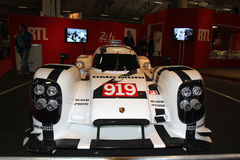Race car at auto show Stock Image