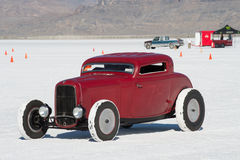 Race car at Bonneville Speedway. A high performance Hot Rod on the salt flats  at Bonneville Speedway, Utah, during the 65th Speedweek 2013 Royalty Free Stock Photos