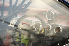 Race car cockpit Stock Image
