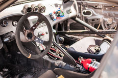 Race car cockpit Royalty Free Stock Photography