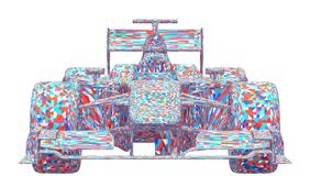Race Car Colorful Vector Stock Photos