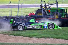 Race car crash Stock Photography