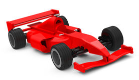 The race car. 3d generated picture of a red race car Stock Photos