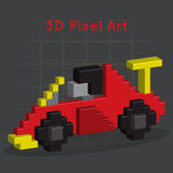 Race car. 3D Pixel Art. Vector, for you design Royalty Free Stock Photography