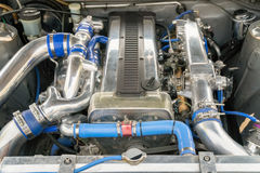 Race car engine ,6 Cylinder type Royalty Free Stock Images