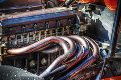 Race car engine in hdr Royalty Free Stock Photo