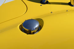 Race car fuel filler cap. Royalty Free Stock Images