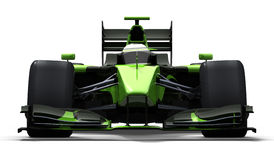 Race car - green and black Stock Photo