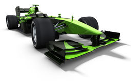 Race car - green and black Royalty Free Stock Images