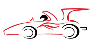 Race car. Illustration of racing car in formula one style Royalty Free Stock Photography