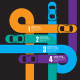 Race car infographics. Race car graphic design infographics Stock Images