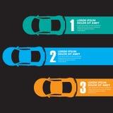 Race car infographics Royalty Free Stock Photos
