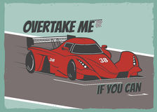 Race car poster Royalty Free Stock Photos