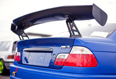 Race car rear wing. (BMW M3 Stock Photo