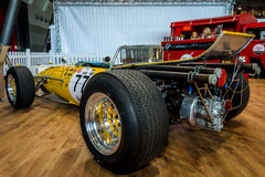 Race car Serenissima M1AF, 1967. STUTTGART, GERMANY - MARCH 04, 2017: Race car Serenissima M1AF, 1967. Rear view. Europe`s greatest classic car exhibition ` royalty free stock photo