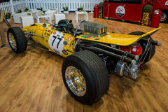 Race car Serenissima M1AF, 1967. STUTTGART, GERMANY - MARCH 04, 2017: Race car Serenissima M1AF, 1967. Rear view. Europe`s greatest classic car exhibition ` stock photo