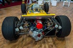 Race car Serenissima M1AF, 1967. STUTTGART, GERMANY - MARCH 04, 2017: Race car Serenissima M1AF, 1967. Rear view. Europe`s greatest classic car exhibition ` stock images