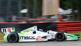 Race car on straight away. Royalty Free Stock Image