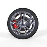 Race car tire with aluminium rims Royalty Free Stock Photos