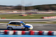 Race car on the track. Sports race car on the track Royalty Free Stock Photography