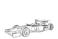 Race Car Vector 02 Stock Images