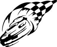 Race car - vector illustration Royalty Free Stock Images